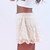 Ivory lace shorts Current Fashion Trends - Style