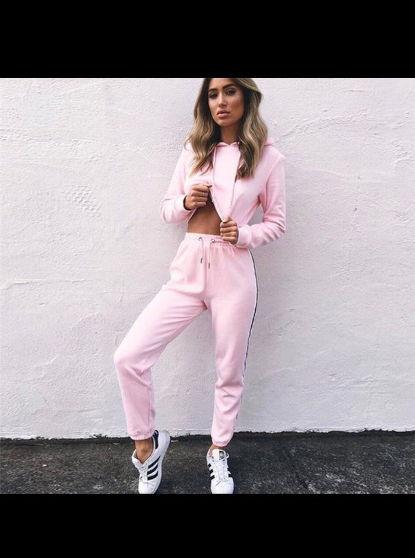 jacket jumpsuit pink two-piece cute