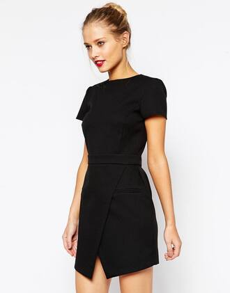 dress asos workwear 32 petite black classic fashion work chic canada