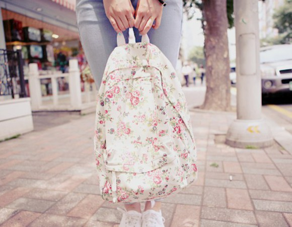 rose roses fancy bag backpack