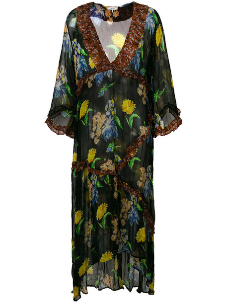 Ganni dress women floral black