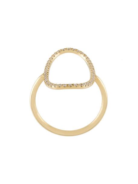 Diane Kordas women ring gold grey metallic jewels