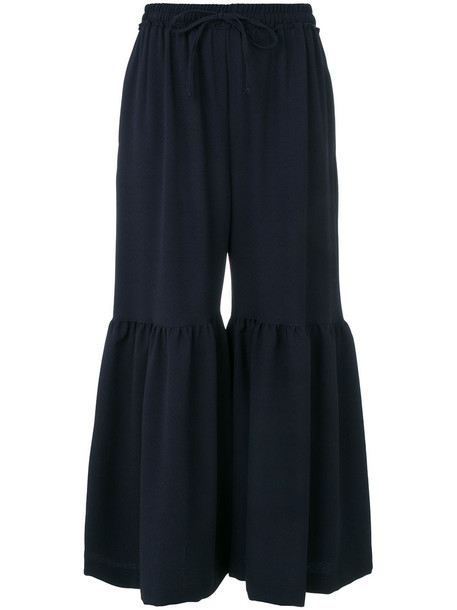 See by Chloe cropped women spandex blue pants