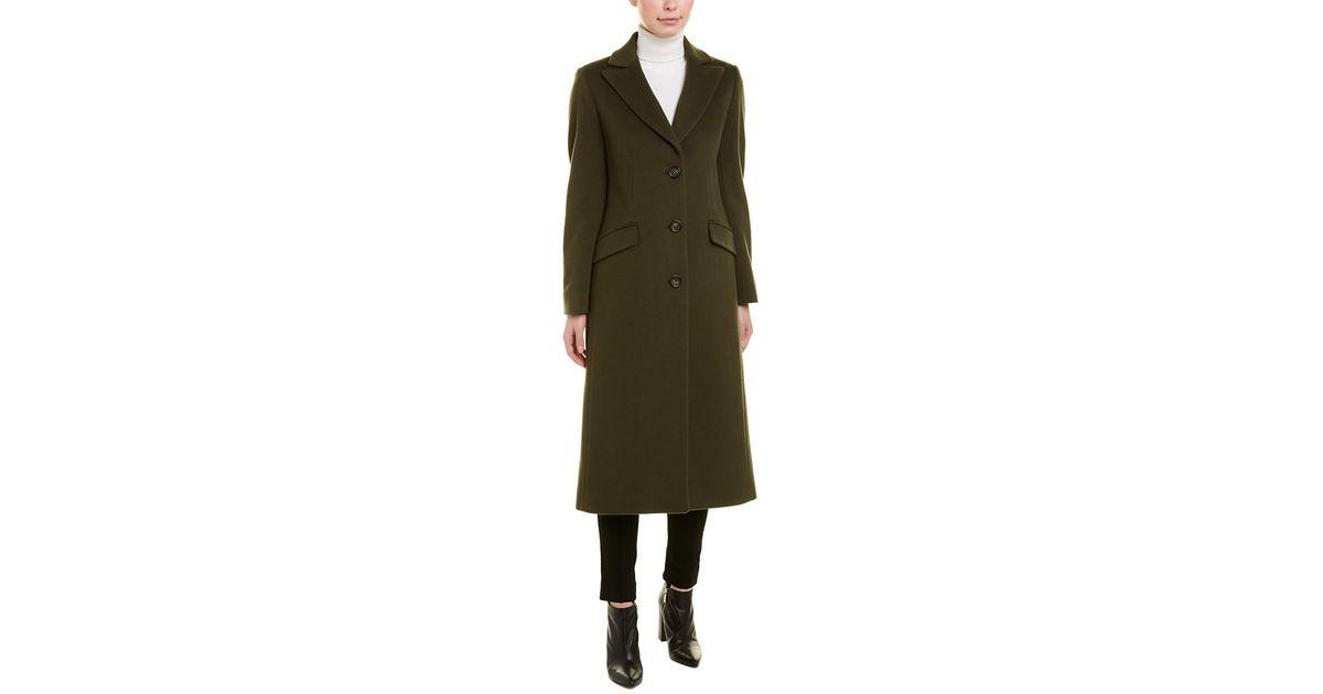 Cinzia Rocca Green Wool & Cashmere-blend Coat