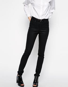 Weekday | Weekday Thursday High Rise Coated Skinny Jeans at ASOS