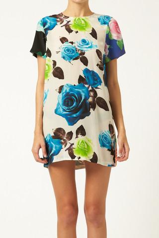 Rose Block Tee Dress