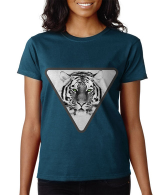 t-shirt tiger animal black and white hipster