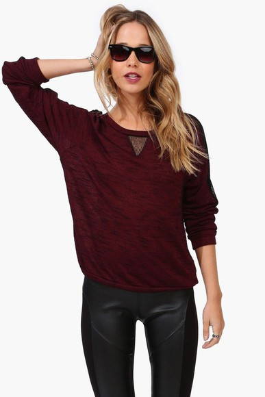 burgundy sweater sweater burgundy sheer