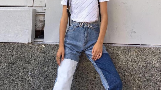 8cfc6ba5019 jeans vintage retro denim blues pants