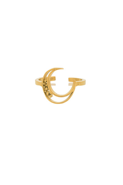 WANDERLUST + CO ring metallic gold jewels