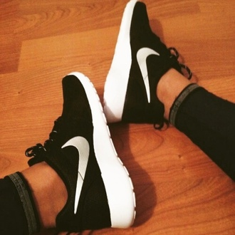 shoes nike running shoes black and white shoes inlovewithit