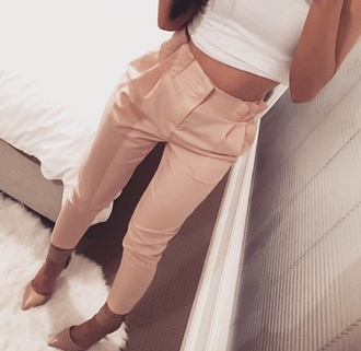 pants cute gorgeouss peach light pink