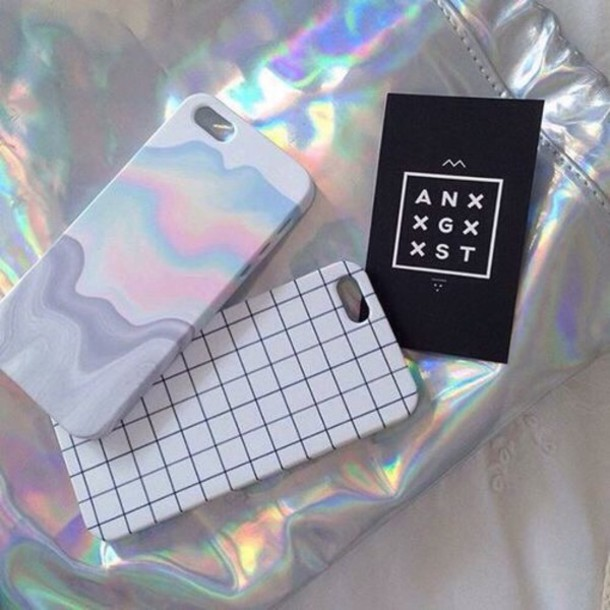 Phone Cover Black Checkered Iphone6 Colorful Bright