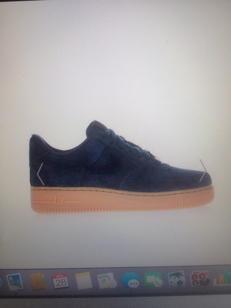 shoes nike suede nike air force 1 blue