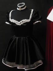 dress,kawaii,goth,goth hipster,gothic lolita,gothic dress,goth dress,medieval,cute,halloween,halloween costume,maid,costume,street goth,lolita,lolita dress,lolita dresses,gothic lolita dresses,japanese,japanese fashion,nymphet,dolly dress,doll,pretty,sweet,sweetheart dress,beautiful,classy,sexy halloween costume,halloween accessory,sexy dress