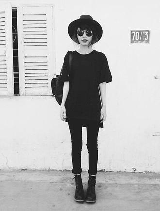 shirt pale tumblr grunge cute kawaii sunglasses