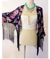 cardigan,floral kimono,fringe kimono,festival,cover up,cute cardigan,fashion,top