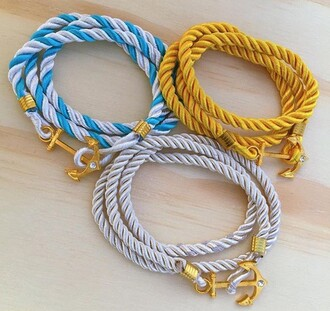 jewels rope anchor bracelets