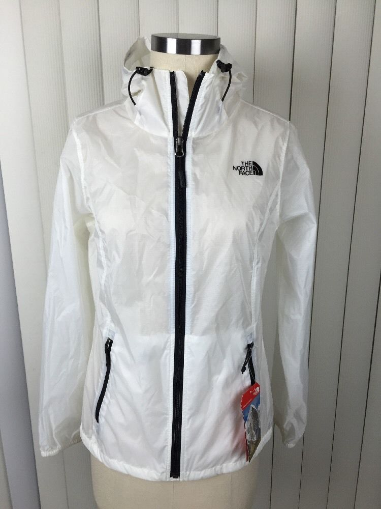 247fdfb66 NWT WOMENS THE NORTH FACE CYCLONE HOODIE IN WHITE/BLACK Sz M Asian Fit