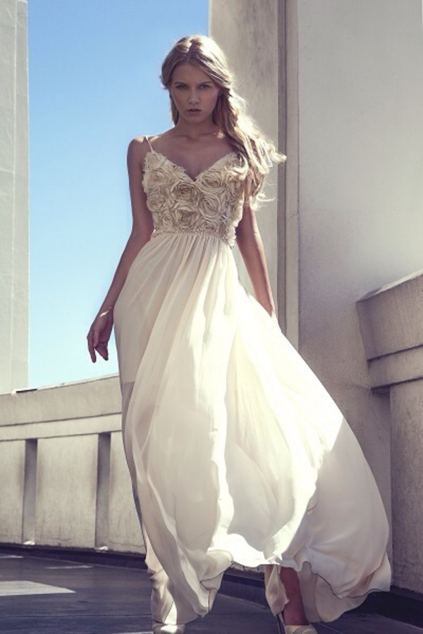 white dress dress long prom dress