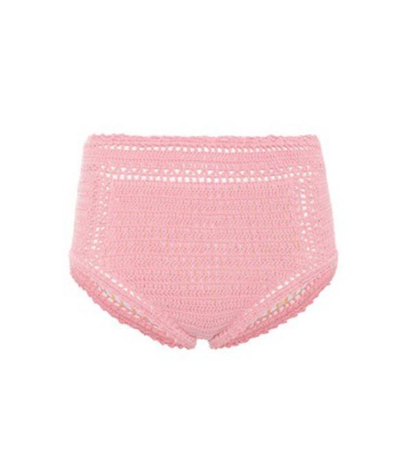 She Made Me Essential high-waist bikini bottoms in pink