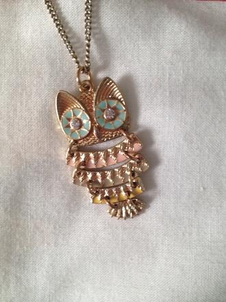 jewels owl gold necklace platforms