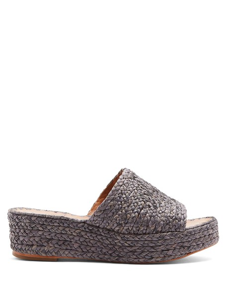 carrie forbes mules grey shoes
