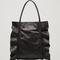 Ruffled leather shopper - black - bags & purses - cos se