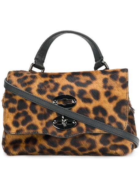 Zanellato mini hair women bag mini bag leather print brown leopard print
