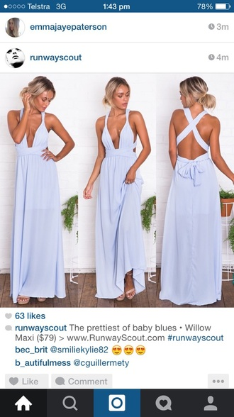 dress chiffon maxi dress tuneup dress baby blue wrapdress