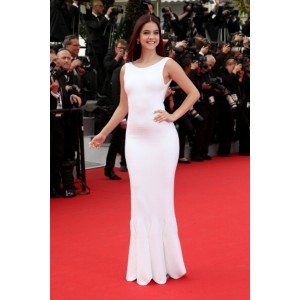 Barbara palvi white sleeveless open back evening dress 2014 cannes film festival red carpet