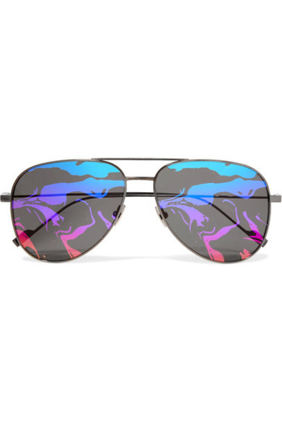 Saint Laurent style sunglasses mirrored sunglasses