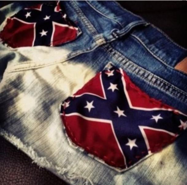 shorts confederate flag