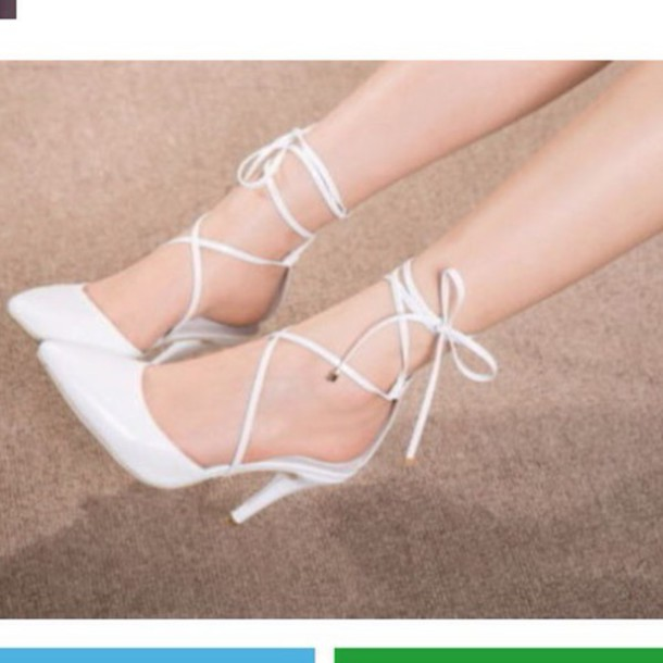 shoes pointed high heel with straps