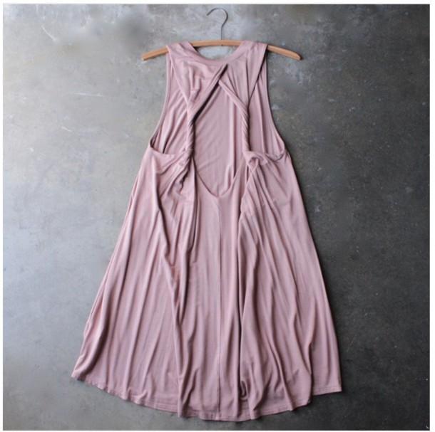 dress dusty pink dress simple