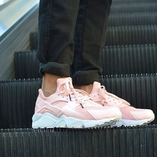 2316e07145c7 shoes pink pink shoes nike huarache light pink low top sneakers pink  sneakers