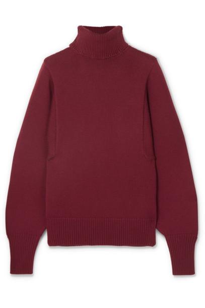 The Row sweater turtleneck turtleneck sweater wool burgundy
