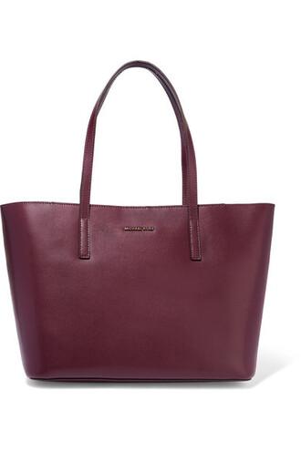leather plum bag