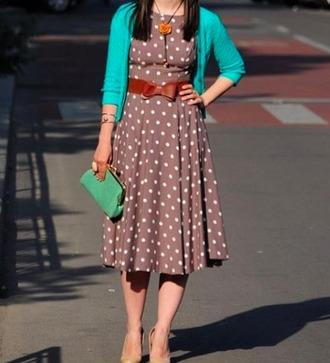 dress midi dress midi polka dots girl modern girl grey dress belted dress