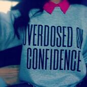sweater,overdosed,confidence,grey,sweatshirt,zendaya,swag,zswagg