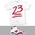 23 EMOJI JORDAN RETRO 6 CARMINE T SHIRT - WHT - — The Fresh Life Clothing