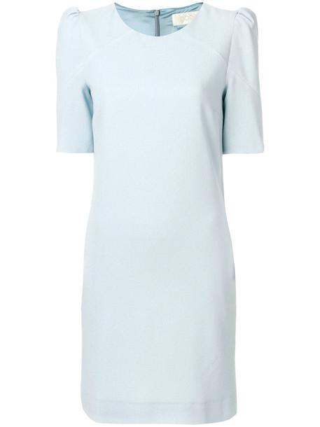 Goat dress shift dress women blue wool