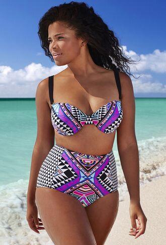swimwear sexy bikini bikini top bikini bottoms pattern cute high waisted