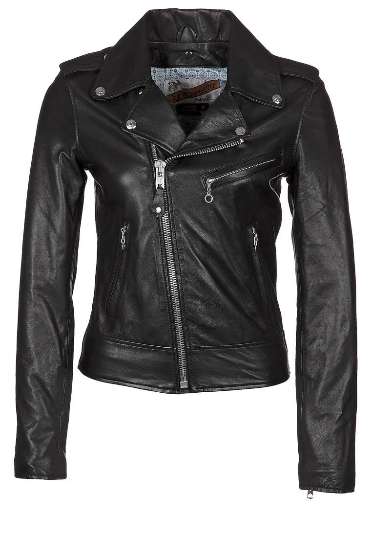 Schott NYC Veste en cuir - noir - zalando.fr