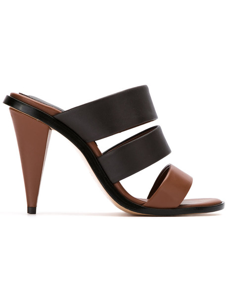Lilly Sarti women heels mules leather black shoes
