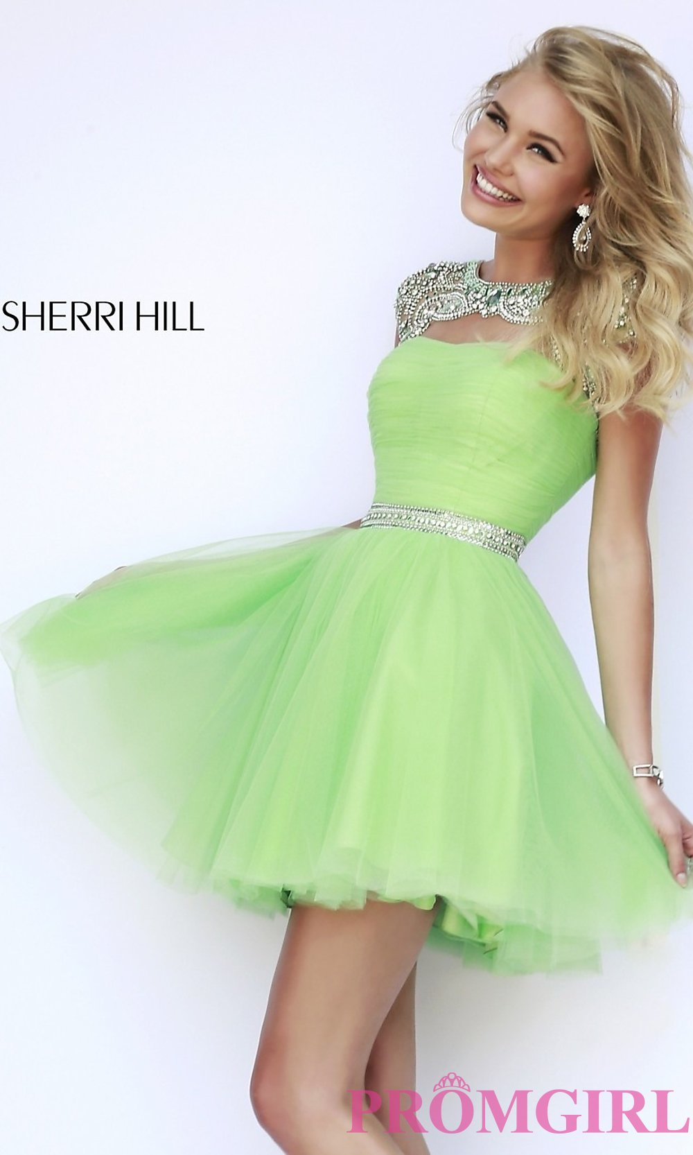 660ab55ede8d1 Short High Neck Sherri Hill Prom Dress