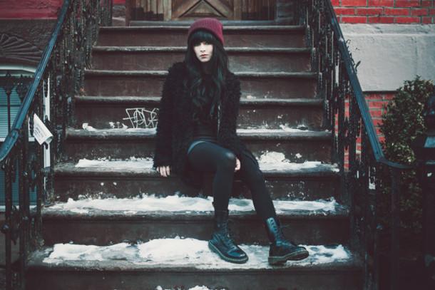 jag lever blogger coat hat shoes dress