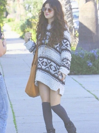 sweater selena gomez jumper patterned sweater pattern
