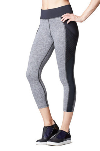 leggings michi crop leggings grey black bikiniluxe