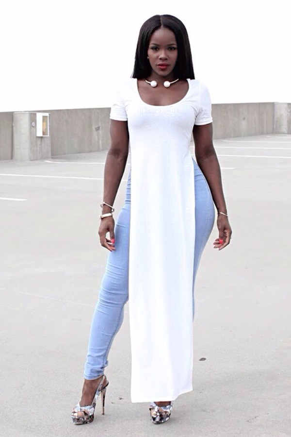 white long dress shirt short sleeve shirt